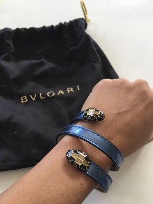 Bulgari Lederen armband blauw