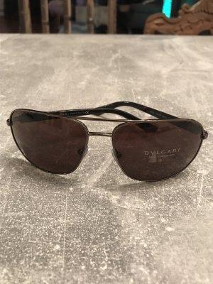 Bulgari Aviator Glasses brown