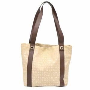 Bulgari Handbag brown textile fiber