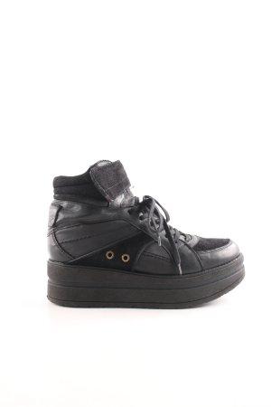 Bullboxer Absatz Sneaker schwarz Street-Fashion-Look