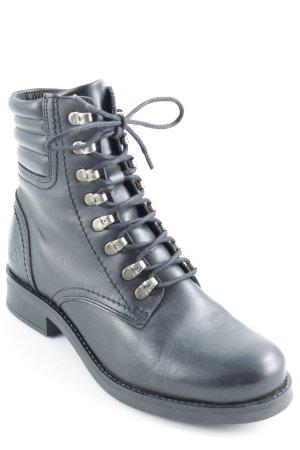 Bullboxer Ankle Boots schwarz Biker-Look