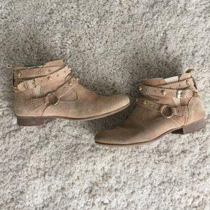 Bullboxer Boots Schuhe beige gold Gr. 38