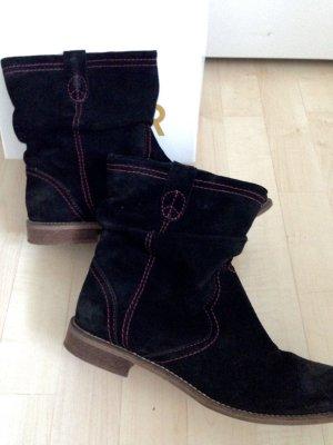 Bullboxer Boots • Schwarz • Wildleder • Stiefeletten • Wie Neu