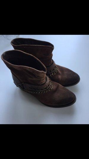 Bullboxer Boots / Stiefeletten braunes Echtleder, Gr.: 38