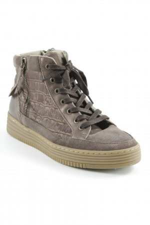 Bullboxer High Top Sneaker graubraun-hellbraun Casual-Look