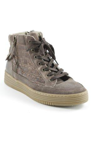 Bullboxer High Top Sneaker graubraun-hellbraun Casual-Look