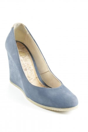 Bullboxer Keil-Pumps stahlblau-nude Business-Look
