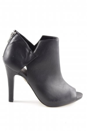 Bullboxer Peep Toe Booties black-silver-colored casual look