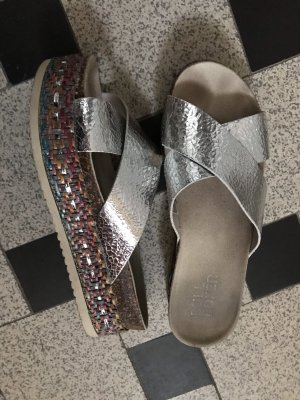 Bullboxer Heel Pantolettes silver-colored