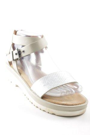 Bullboxer Sandalen met bandjes licht beige-zilver reptielen print