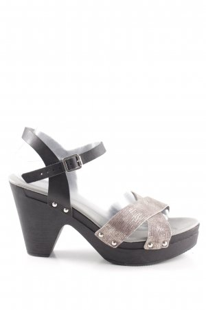 Bullboxer Strapped High-Heeled Sandals black-silver-colored casual look