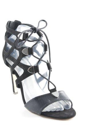 Bullboxer Sandalo con cinturino e tacco alto nero stampa rettile