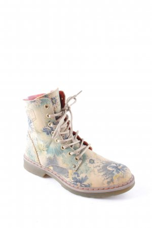 Bullboxer Schnür-Stiefeletten florales Muster Casual-Look