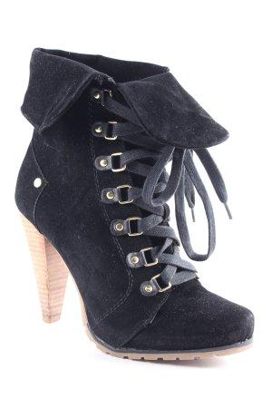 Bullboxer Schnür-Stiefeletten schwarz klassischer Stil