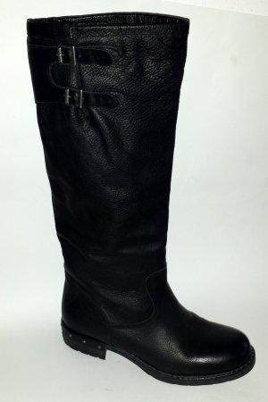 Bullboxer Stiefel Gr. 41 schwarz Echt Leder neu Biker-Stiefel Lederstiefel