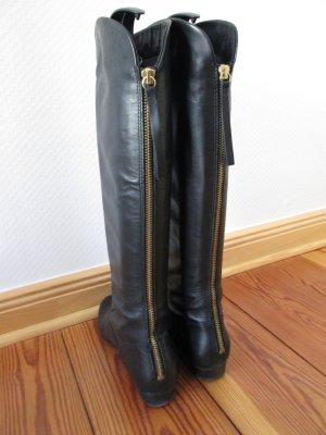 Bullboxer Stiefel Leder mit goldenem Reißverschluss Gr.36