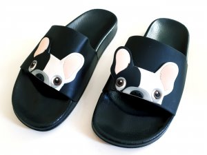Beach Sandals white-black synthetic