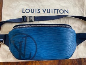 Louis Vuitton Bumbag steel blue-blue leather