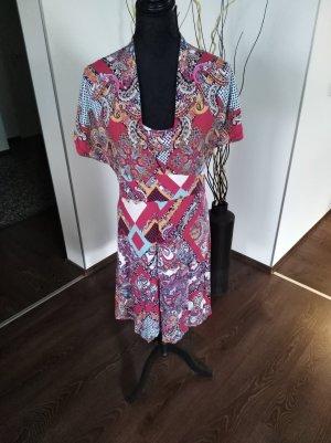 Bund gemusterte Kleid Gr. M