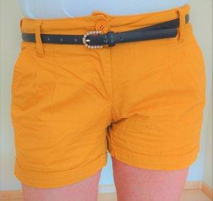Short jaune foncé coton