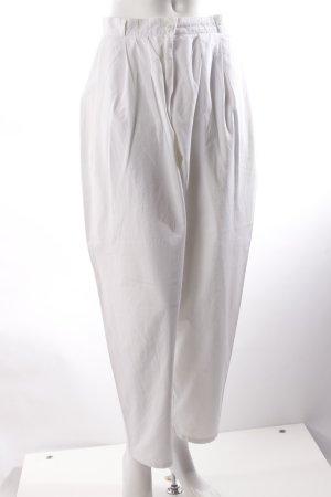 Pantalone a pieghe bianco