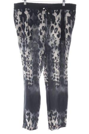 Pantalon à pinces motif animal imprimé animal