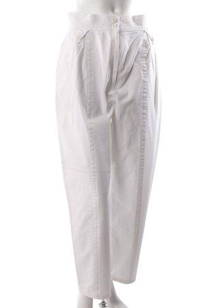 Pantalon à pinces blanc