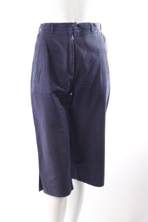 Pantalone a pieghe blu scuro