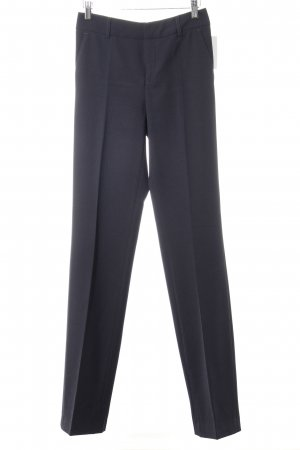 Bundfaltenhose dunkelblau Business-Look