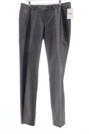 Bundfaltenhose grau-dunkelgrau meliert Business-Look