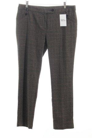 Pantalon à pinces marron clair-brun foncé motif à carreaux style anglais