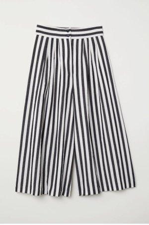 H&M Pleated Trousers black-oatmeal