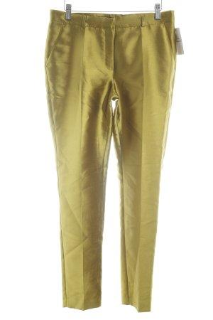 Pantalone a pieghe giallo lime stile metallico