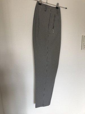 Pantalon à pinces blanc-noir polyester