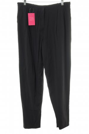 Pleated Trousers black casual look