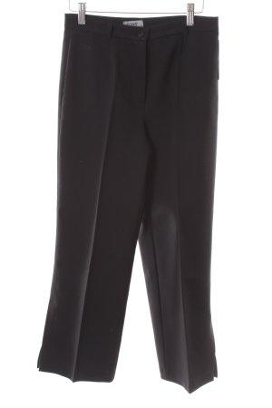 Bundfaltenhose schwarz schlichter Stil