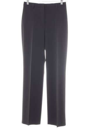 Pleated Trousers black-silver-colored elegant
