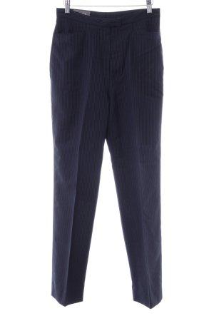 Bundfaltenhose schwarz-stahlblau Nadelstreifen Business-Look
