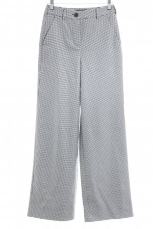 Pleated Trousers black-white houndstooth pattern casual look