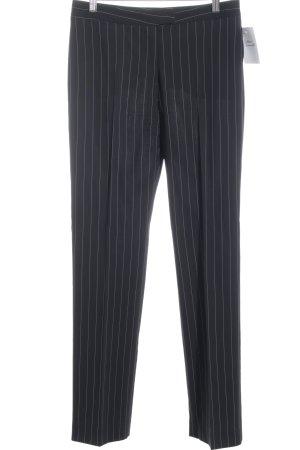 Bundfaltenhose schwarz-weiß Streifenmuster Business-Look