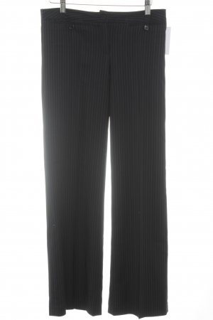 Bundfaltenhose Streifenmuster Business-Look