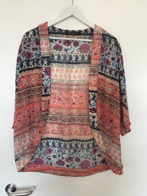 Bunt gemusterter leichter Kimono Gr. S