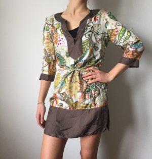 bunt gemustertes Tunika-Kleid von Zara