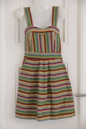 Bunt gepunktetes Trägerkleid mit schönem Schnitt Punkte Kleid Sommerkleid