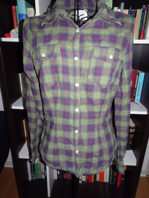 Bunt-karrierte Bluse