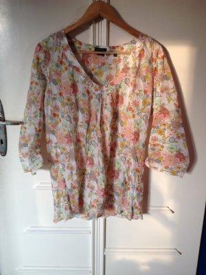 Bunte Blumen Sommer Bluse
