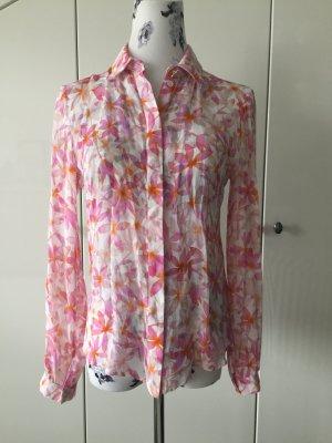 Bunte Bluse mit Blumendruck