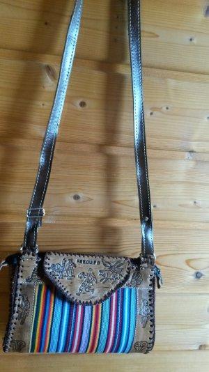 Handbag multicolored imitation leather