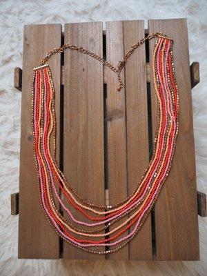 bunte (inkl. rosegold) lange Kette im Ethnolook