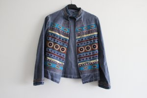 Denim Blazer multicolored cotton